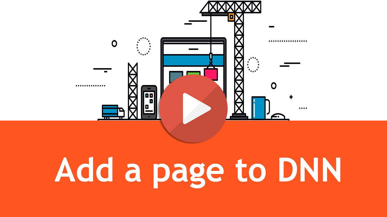 How to add a new page in DNN