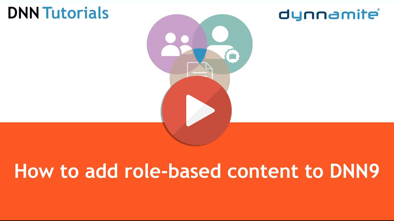 How to add role-based content to a DNN9 website